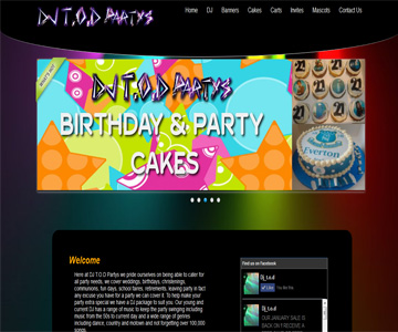 DJ Tod Party website by Index Web Designs